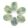 Lamp Bead Leaf 6Pc 22.5x14.5mm Olive Green